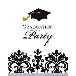 Black and White Grad Postcard Invitations | Party Favor | Pack of 50