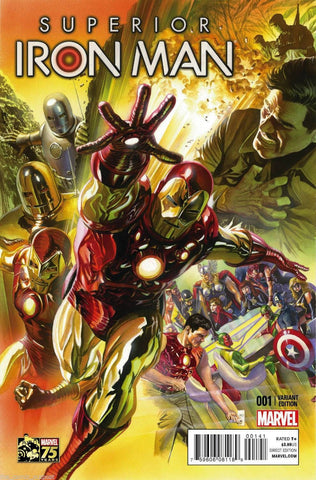 Superior Iron Man #1 Alex Ross 1:75 Color Variant