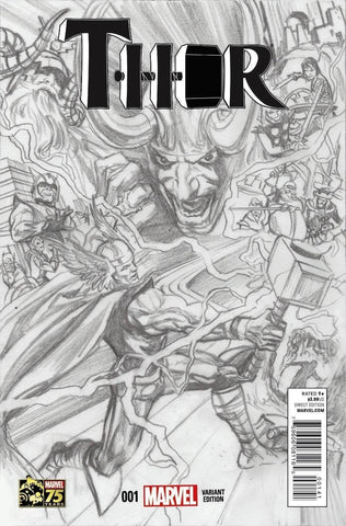 Thor #1 Alex Ross 1:300 Sketch Variant