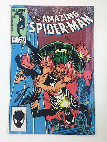 Amazing Spider-Man #257 Signed by Stan Lee