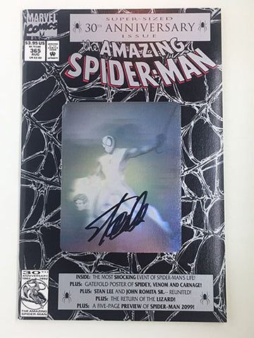 Amazing Spider-Man #365 Signed by Stan Lee