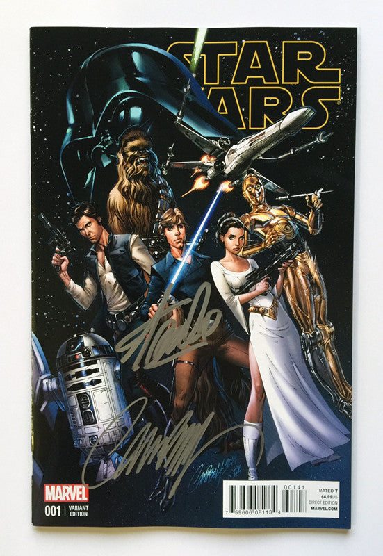 Star Wars #1 J. Scott Campbell 1:50 variant Signed by Stan Lee & Campbell