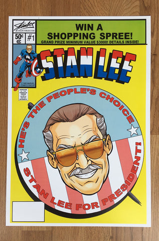 Stan Lee for President Lithograph
