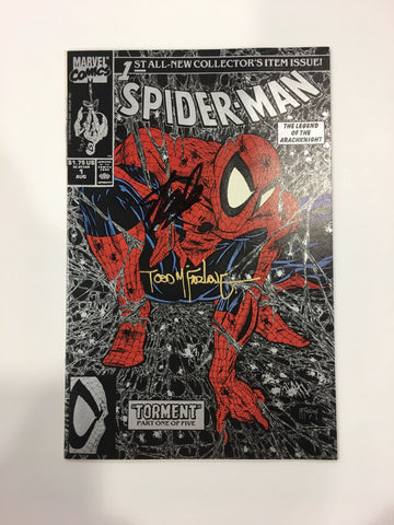 Spider-Man #1 (1990) Silver Signed by Stan Lee & Todd Mcfarlane