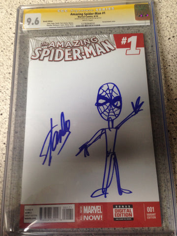 Amazing Spider-man #1 CGC 9.6 W/ STAN LEE SKETCH