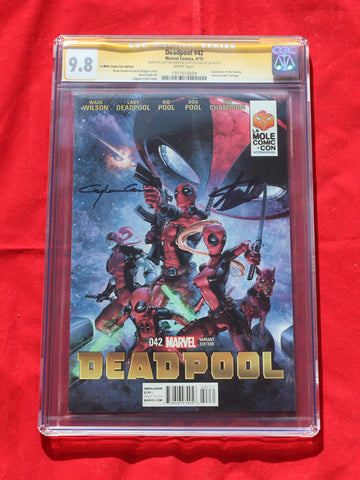 Deadpool #42 La Mole Variant CGC 9.8 Signature Series Stan Lee & Clayton Crain
