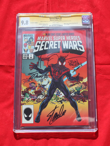 Secret Wars #1 HEROES CON VARIANT CGC 9.8 SIGNATURE SERIES Stan Lee, Mike Zeck, Beatty, & Shooter
