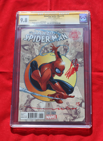 Amazing Spider-man #15 Decomixado Variant CGC 9.8 Signed by Stan & Paco Medina