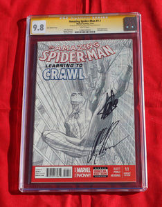 Amazing Spider-man 1.1 CGC 9.8 Signed by Stan Lee & Alex Ross 1:200 Variant