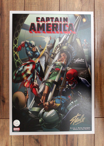 All New Captain America #1 Print Signed by J. Scott Campbell & Stan Lee