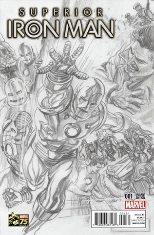 Superior Iron Man #1 Alex Ross 1:300 Sketch Variant