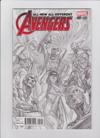 All New All Different Avengers #1 Variant 1:200 Alex Ross Sketch
