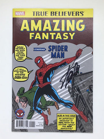 Amazing Fantasy #15 True Believers Signed by Stan Lee