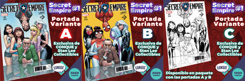 Secret Empire #1 Conque Variant SET ABC by Humberto Ramos & J. Scott Campbell