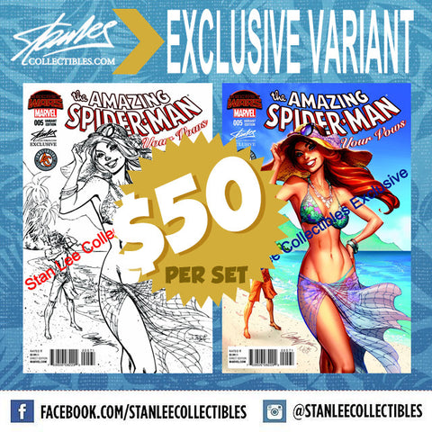 Amazing Spider-man Renew Your Vows #5  J. Scott Campbell Colored/Sketch Variant Set Hawaii