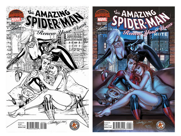Amazing Spider-man Renew Your Vows #2  J. Scott Campbell Colored/Sketch Variant Set SDCC