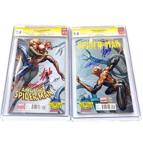 Amazing Spider-man #700 & Superior Spider-man #1 SET CGC 9.8 Signature Series