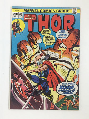 Thor #215 Signed by Stan Lee