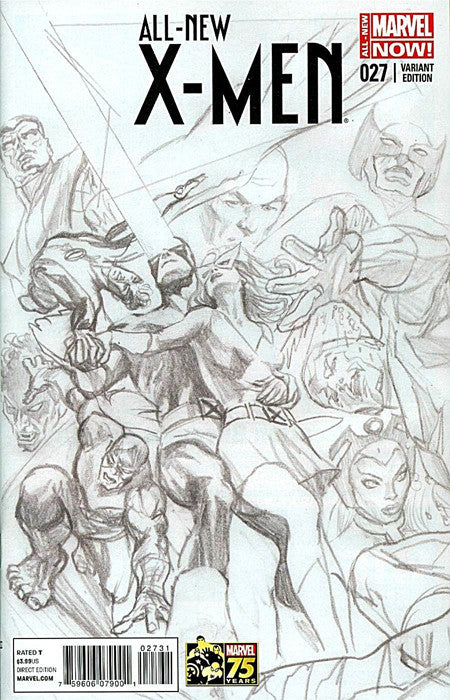 All New X-Men 27 Alex Ross 1:300 Sketch Variant