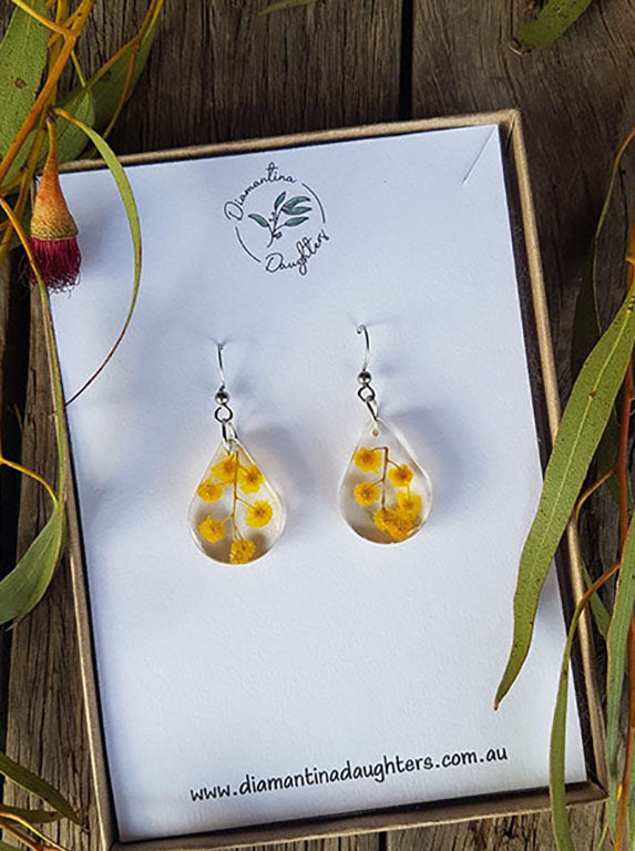 SW Wattle Dangle Earrings