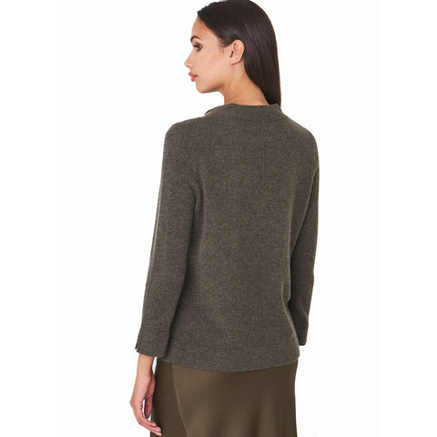 Repeat Cash Tieneck Sweater