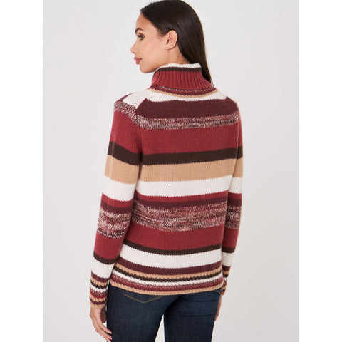 Repeat Cashmere Stripe tneck
