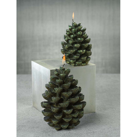 Green Velvet Pinecone 7""