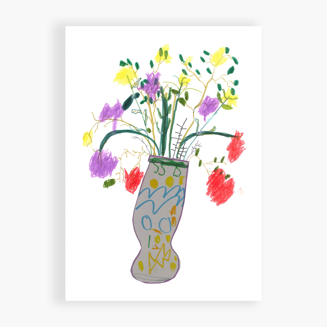 Printed Card - Grey Vase - I love this vase. We did this in art class and it was a lot of fun.