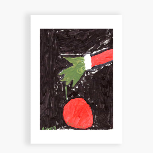 Printed Card - Grinch Stole it I love the Grinch story so I painted this hand doing the stealing.