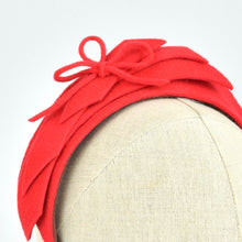 Load image into Gallery viewer, Red fur felt Holiday Headband