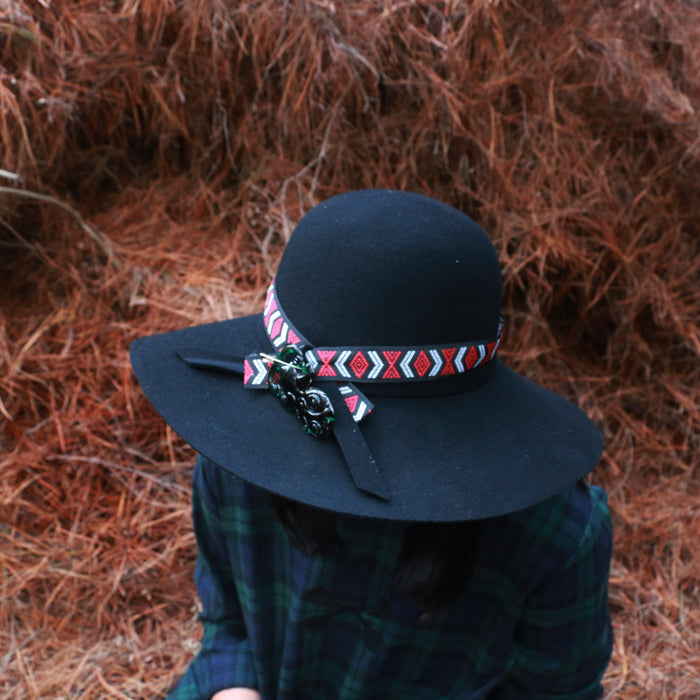 Floppy Wool Hat - Black