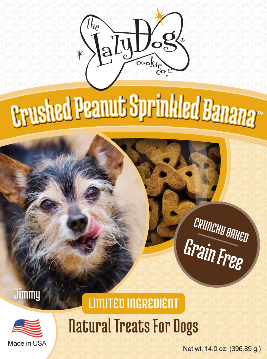 All-natural limited ingredient, grain-free dog treats with peanut and banana
