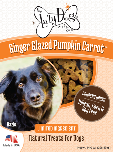 All-natural limited ingredient, grain-free dog treats with pumpkin and ginger
