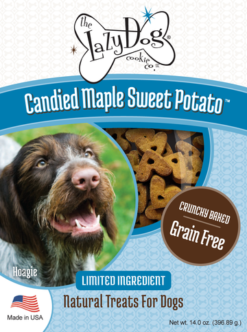 All-natural limited ingredient, grain-free dog treats with maple and sweet potato