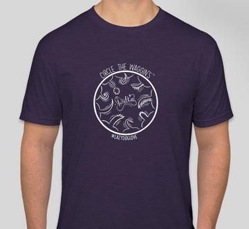 DONATION of $6.00 goes directly to our chosen charity from this purchase! Circle the Waggin's T-Shirt