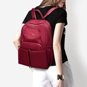 Women's Luxury Waterproof Oxford Bag Multi Pocket Zipper Backpack - Marfuny