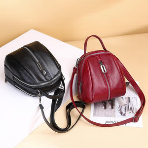 Women's Casual Solid Waterproof Bags Anti-theft Large Capacity Multifunctional Zipper Backpack - Marfuny