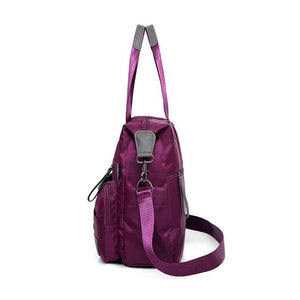 Women's Casual Solid High Quality Waterproof Nylon Bags Large Capacity Zipper Handbags(Get 2nd one 20% off) - Marfuny