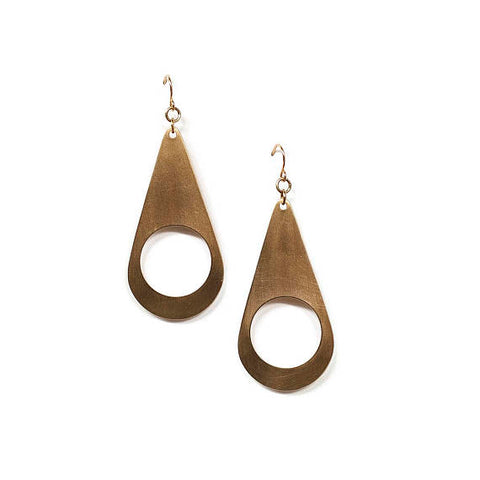 Teardrop Cutout Earrings (14kt GF Earhooks)