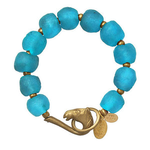 We Dream in Colour - Cerulean Glass Bracelet