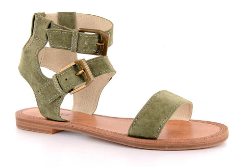 """Allison"" Khaki Green Sandal"