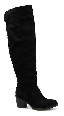 """Ladder"" Tall Black Boot"