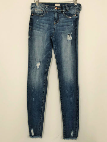 Frayed Hem Medium - Light Wash Jeans
