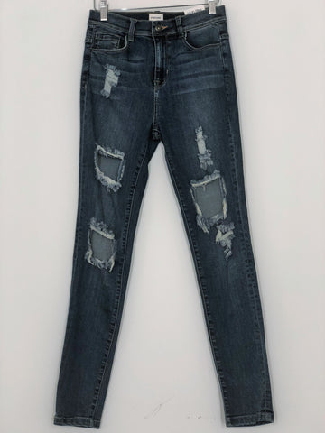 Ultra Distressed High Rise Jean