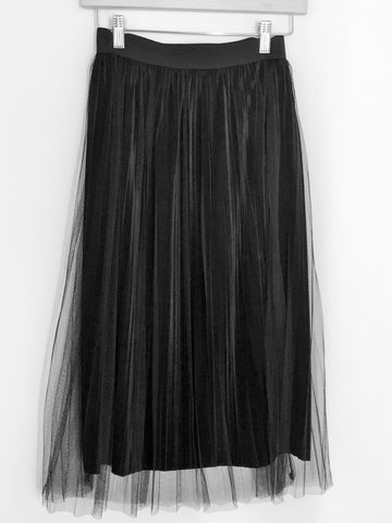 Black Velvet & Tulle Skirt