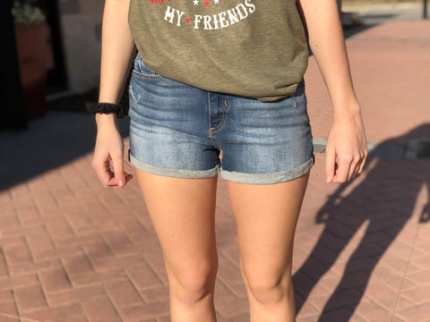 Distressed Medium / Light Shorts