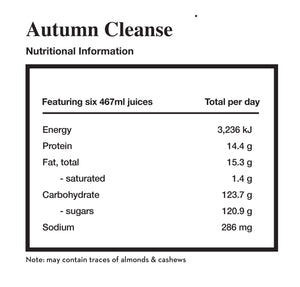 autumn cleanse