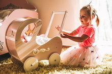 Load image into Gallery viewer, Wooden Dolls Pram Pink Retro - Mincia Studio