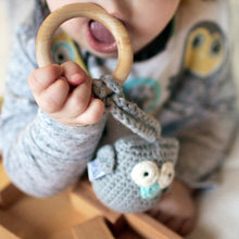 Load image into Gallery viewer, Eco owl teether - Mincia Studio