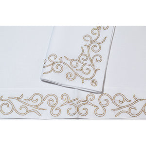 Gold Arabesque Linens